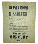 """The Union Is Dissolved"" Confederate Poster 1860"